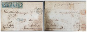 O) 1901 CUBA, CARIBBEAN, SPANISH DOMINION, WAX SEALS, QUEEN ISABELLA II 1/2r