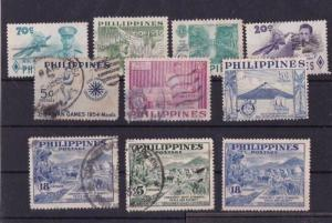 PHILIPPINES MOUNTED MINT & OR  USED STAMPS ON  3 STOCK CARDS  REF R817