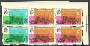 GILBERT & ELLICE IS 1966 World Health set blocks of 4 MNH..................73841