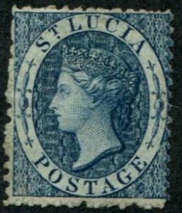 St. Lucia SC#5 (SG#7) Queen Victoria (4p) wmk 1, M no gum short perfs