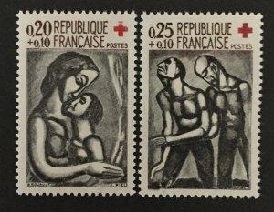 France 1961 #B356-7, MNH, CV $4.15