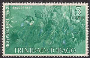 Trinidad & Tobago 1962 QE2 5cts Blue Independence MNG SG 300 ( D915 )