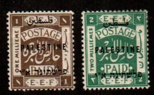 Palestine #37-38  Mint  Scott $5.50