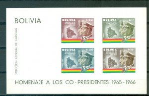 BOLIVIA PRESIDENTS #C260a...IMPERF. SOUV. SHEET...MNH...$14.00
