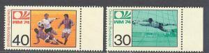 GERMANY BUND Sc# 1146 - 1147 MNH FVF Set of 2 Soccer Games