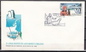 Chile, Scott cat. 836. Antarctica with Penguins issue on a  First Day Cover.