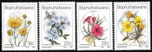 Bophuthatswana - 1987 Wild Flowers Set MNH** SG 187-190