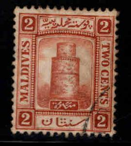 Maldive Islands Scott 7 Used 1909 Minaret of Juma Mosque stamp