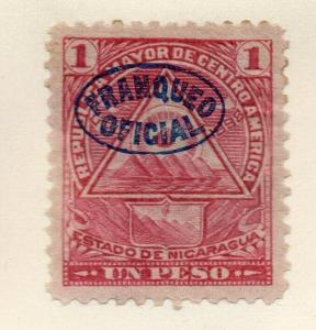 Nicaragua 1898 Early Issue Fine Mint Hinged 1P. Official Optd 323809