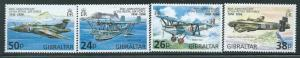 Gibraltar - 1998 - Royal Air Force 80th Anniversary 4 Sheet Set Scott #755-8