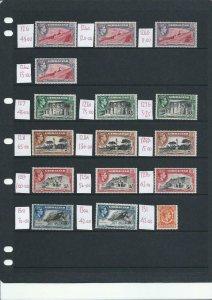 GIBRALTAR 1938-51 KG6 35 STAMPS AS SHOWN MM CAT £1490