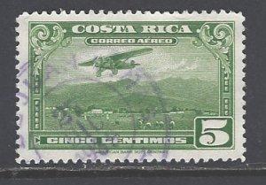 Costa Rica Sc # C15 used (RS)
