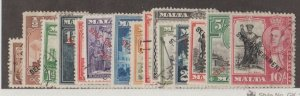 Malta Scott #208-222 Stamps - Used Set