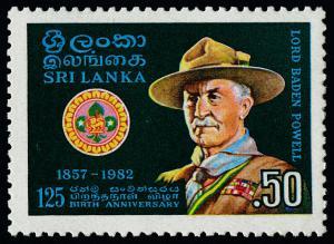 Sri Lanka 639 MNH Scouting Year, Lord Baden Powell