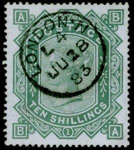 SG131, 10s grey-green, VFU, CDS. Cat £4500. BA