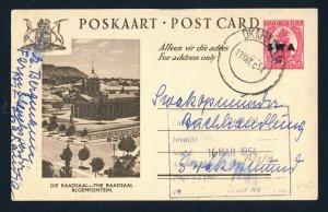 SOUTH WEST AFRICA 1954 Postcard OKAHANDJA to SWAKOPMUND
