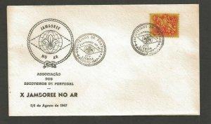 1967 Portugal Boy Scout X Jamboree on Air Lisboa