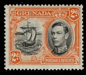 GRENADA GVI SG156a, 2d black and orange, LH MINT.