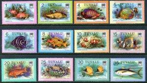 TUVALU Sc#96-113 1979 Fish Definitives Complete Set OG Mint NH