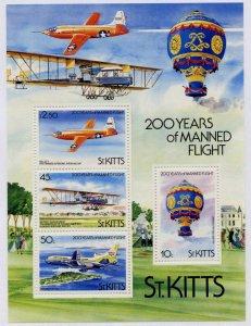 St Kitts 126a MNH Aircraft, Manned Flight, Hot Air Balloon