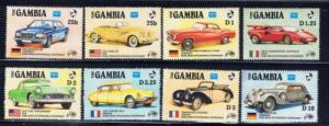 Gambia 620-27 Never Hinged 1986 Automobiles