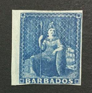 MOMEN: BARBADOS SG #10 1855-8 MINT OG H LOT #192547-1216
