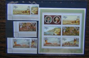 Niue 1978 Bicentenary of Hawaii Paintings John Webber set & Miniature sheet MNH