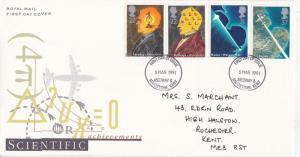 GB 1991 Scientific Achievements FDC Medway&Maidstone CDS with enclosure VGC