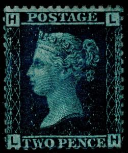 SG45, 2d blue plate 9, UNMOUNTED MINT. Cat £350+. LH