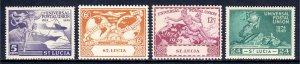St. Lucia - Scott #131-134 - MNH - SCV $2.55