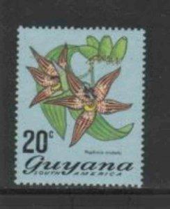 GUYANA #140 1971 20c FLOWER MINT VF NH O.G