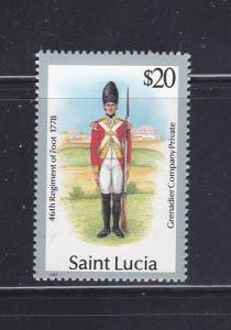 St Lucia 879 MNH Military Uniform
