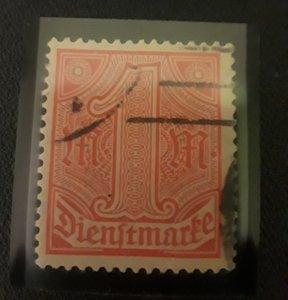 1920 Germany Dienftmarke Used Catalog # O10