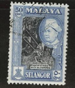 MALAYA Selangor Scott 109 used stamp