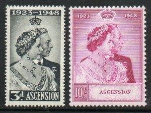 Ascension Island: 1948 KGVI SW set (2) SG 50-51 mint