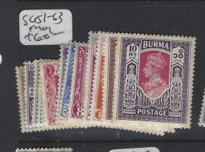 BURMA (P0204B) KGVI  SG 51-63   MOG