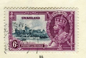 SWAZILAND; 1935 early GV Jubilee issue fine used 6d. value