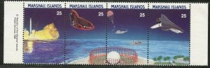 MARSHALL IS. Sc#205-208 1988 US Space Shuttle Complete Mint OG NH