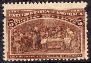 US Stamp Scott #234 Mint Hinged SCV $50