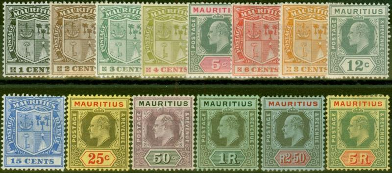 Mauritius 1910 set of 14 to 5R SG181-194 Fine Mtd Mint