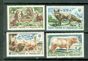 ST.PIERRE & MIQUELON  ANIMALS  #370-373..SET...MNH...$22.90