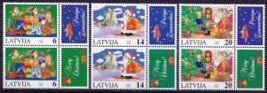 Latvia. 1996. 444-46. Christmas. MNH.