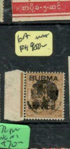 BURMA JAPANESE OCCUPATION (P1501B) HENZADA TYPE II  ON KGV 6A RARE   MNH
