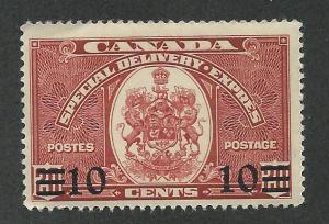 E9 MNH,  10c. Special Delivery, Surcharged, Canada