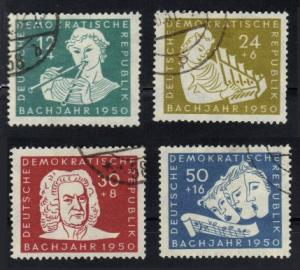 Germany DDR #B17-20 used cpl Bach