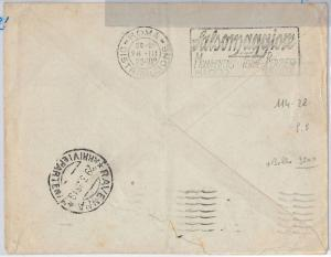 ITALY -  POSTAL HISTORY -  COVER with nice MECHANICAL postmark - MEDICINE