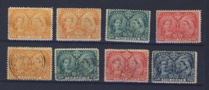8x Canada Victoria Jubilee Stamps 4x MH #51x2-52-53 4x Used Guide Value = $98.00