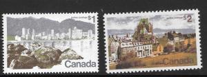 CANADA SG707/8 1972 $1 & $2 DEFINITIVE MNH
