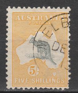 AUSTRALIA 1913 KANGAROO 5/- 1ST WMK CTO WITH GUM
