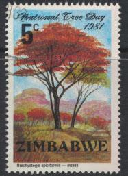 Zimbabwe  SG 606  SC# 442 Used Tree Day    see detail and scan